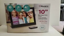 Aluratek 10 inch Digital Photo Frame with 4GB Built-in Memory w/ remote