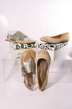 2 pairs Bamboo Women's Shoes - Sequoia-91 and Clore-34 - WM 8 - Silver - Nude
