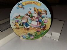 """1993 Avon Fine Collectibles """"Easter Parade"""" Easter Plate Vintage 22k Gold Trim"""