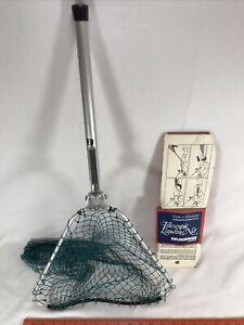 Vintage telescopic landing net Solvkroken Norway Gear Tool Set Fish Fishing 🎣