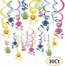 Baby Shark Birthday Party Decorations Hanging Swirl Baby Shark Party Supplies