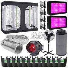 Grow Tent Kit Complete 600w LED Grow Light Twin Speed Filter Kit Hydroponics