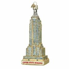 Empire State Building New York Glass Old World Christmas Ornament 20059 FREE BOX