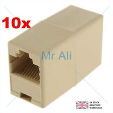 10 x RJ45 Cat 5e 5 Straight Network Cable Ethernet LAN Coupler Joiner Connecter