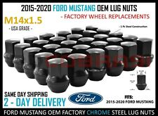 2015-2020 Ford Mustang GT Shelby GT 350 OEM Lug Nuts Factory Style Black Finish