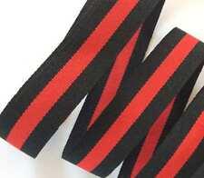 grosgrain nastro strisce nero rosso 25mm fashion decorazione fashion