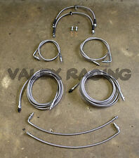 Complete Front & Rear Brake Line Replacement Kit 92-95 Honda Civic w/rear drum