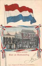 GEERTRUIDENBERG, NETHERLANDS ~ KAZERNE MARKTZIJDE, COUNTRY FLAG ~ used 1904