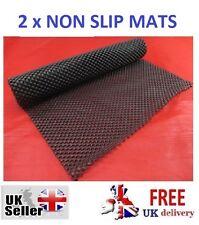 2 NON SLIP MATS 150cm x 30cm Cut Mat Size Rug Carpet Car Dash Drawer Anti Spill