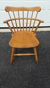 $40 DOWN!!  Antique Maple Desk/Dinette/Side Chair by S. Bent & Bros Stamped 1887