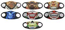 Face Mask Washable Reusable Mouth Covering Cigar Skull Joker Clown Mens Ladies