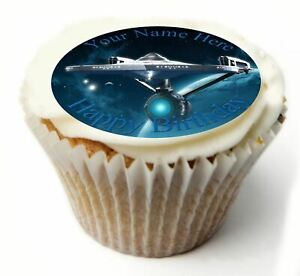 Cupcake Toppers Star Trek personalised Rice paper Icing sheet 845