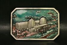 Vintage 1984 Limited Edition Nuclear Power Plant Belt Buckle