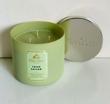 NEW! BATH & BODY WORKS WHITE BARN 3-WICK SCENTED CANDLE - FRESH BALSAM