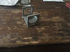 VINTAGE FOLDING HANDS FREE STEEL MAGNIFIER /LOUPE WITH SCALE, JAPANESE