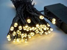 100 LED Warm White Outdoor Battery 10M Fairy Waterproof String Lights Christmas