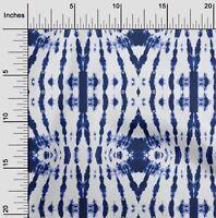 oneOone Cotton Poplin Indigo Blue Fabric Tie & Dye Shibori Sewing-pzD