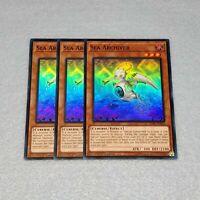 3x Yugioh Sea Archiver SDPL-EN003 1st Edition Super Rare Card Playset NM