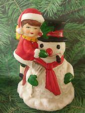 Aldon Accessories Inc ~ Porcelain Bisque Snowman Wind-Up Music Box ~ 1987 ~ Euc!