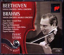 Isaac STERN: BEETHOVEN BRAHMS Double Triple Concerto 2CD Leonard Rose Barenboim
