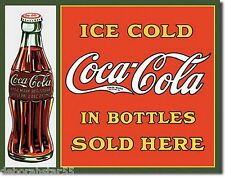 Coca Cola Sign Coke Ice Cold In Bottles Vintage Style Retro Metal Wall Sign 1047
