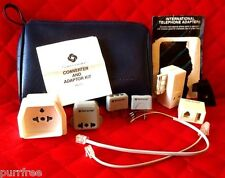 Samsonite Travel Converters / Adapters 7 Pc Power & Phone United Airlines Case