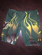 Men's Green Jammers 38 Swim Suit Shorts Team Mustangs High School Uniform