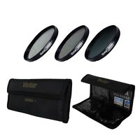 58mm UV CPL ND8 3 Piece Multi Coated Filter Kit for Canon 50mm 1.4  85mm 1.8