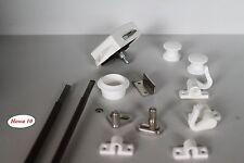 Möbelschloß Push Lock Schloß  weiß  Möbelgriff  für Kleiderschrank 15mm