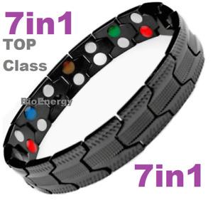 7in1 TITANIUM strong Magnetic Energy Armband Power Bracelet Bio 698749