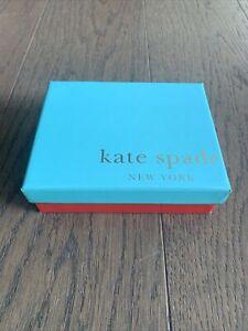 Kate Spade Blue & Coral Rectangular Empty Gift Box - 11.5 x 14.5 cm