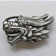 * Drachen Design Mittelalter Gothic Dragon Gürtelschnalle Fantasy Buckle * 506