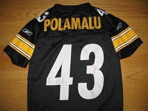 PITTSBURGH STEELERS TROY POLAMALU #43 NEW SEWN PATCH JERSEY NFL ON FIELD REEBOK
