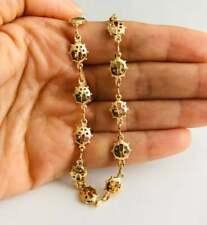 """14k gold plated Ladybug anklet 9.5"""" / Tobillera de Mariquita 9.5"""" -Br203"""