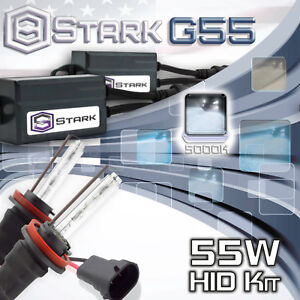 Stark 55W Micro HID Fog Light Slim Xenon Kit - H8 5K 50000K White