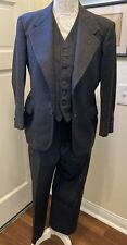 Vintage Antique 1930s 3 piece Grey Wool Men's suit 30s