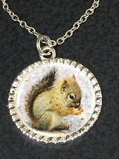 "Squirrel Charm Tibetan Silver with 18"" Necklace G12 BIN"