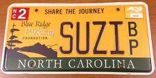 National Park vanity SUZI license plate Suzie Suzanne Susan Susanna Susanne Suzy