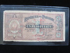 PARAGUAY 1 PESO 1894 P88 SCARCE 30# BANK CURRENCY BANKNOTE PAPER MONEY