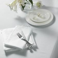 "PLAIN WOVEN WHITE RECTANGLE TABLECLOTH 52"" X 70"" (132CM X 178CM)"