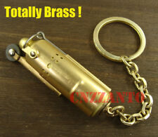 Trench lighter Replica Totally Brass WWI WWII Vintage style key chain ring Z253B