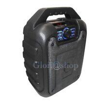 Cassa bluetooth portatile wireless radio fm sd usb minicassa aux mic per karaoke