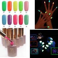 10 Colors Nail Art Fluorescent Polish Soak-off Gel UV / LED Varnish Choose 15ml