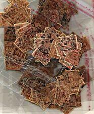REGNO 1901 LOTTO 10 X 10 CENT CARMINIO FLOREALE USATI SASS 71
