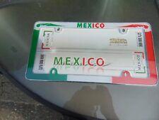 2 LOT MEXICO License Plate Frame, Chrome Cruiser# 23103 Shop Waz 4 Auto