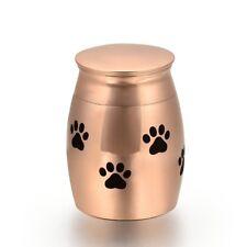 Mini Stainless Steel Pet Urn Cremation Ashes Dog Paws Keepsake rose gold