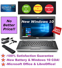 DELL LATITUDE E6430 LAPTOP WINDOWS 10 WIN DVD+RW INTEL i5 2.6GHz 4GB 320GB HDMI