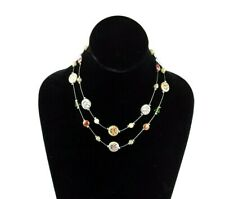 Aspecto étnico negro turquesa o Multi-Colour Multi-hilo collar