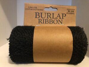 """5.5"""" Burlap Ribbon 15' & 10' Long Roll Finished Edges"""