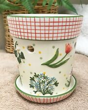 Yankee Candle Spring Floral Ceramic Tart Warmer Was Oil Burner EXC